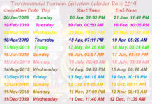 tiruvannamalai girivalam calendar-2019